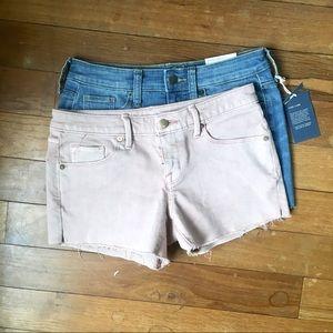 Bundle of midi cutoff shorts.